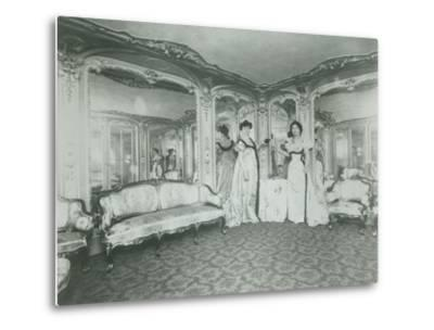 A Brothel in Paris, the Lords Lounge, C. 1900--Metal Print