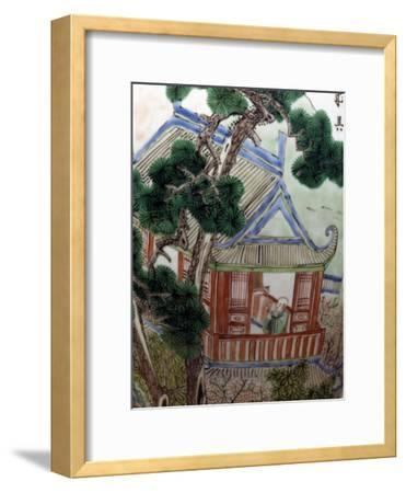 Pagoda in a Garden, Famille Verte--Framed Giclee Print