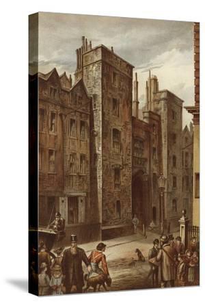 Tudor Gateway, Lincoln's Inn, Chancery Lane-Waldo Sargeant-Stretched Canvas Print