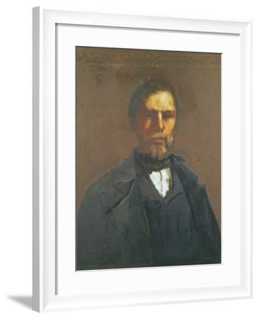 Portrait of Theodore Cuenot, 1847-Gustave Courbet-Framed Giclee Print