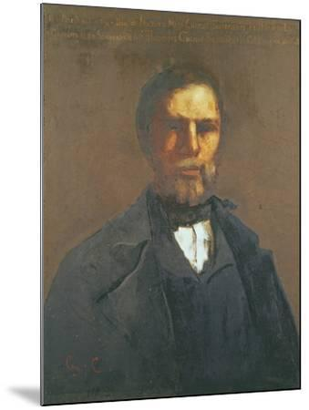 Portrait of Theodore Cuenot, 1847-Gustave Courbet-Mounted Giclee Print