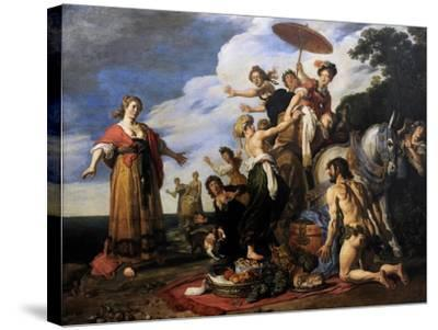 Ulysses before Nausicaa, 1619-Pieter Lastman-Stretched Canvas Print