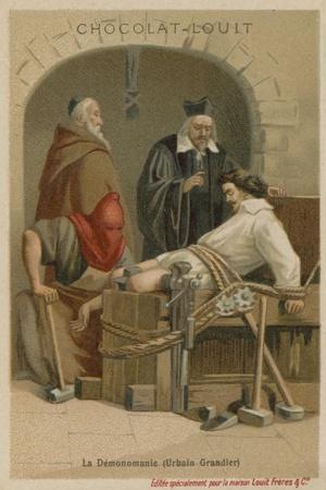 Torture of Urbain Grandier--Stretched Canvas Print