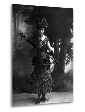 Portrait of an Actress--Metal Print