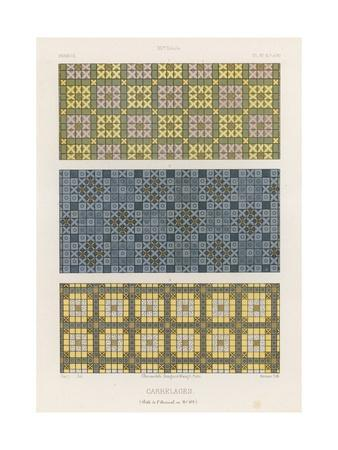 Decorative Tiles of 15th-Century France--Framed Giclee Print