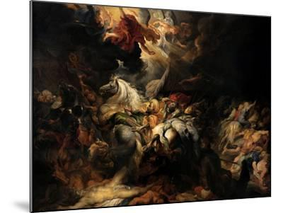 Battle of the Amazons, 1616-1618-Peter Paul Rubens-Mounted Giclee Print