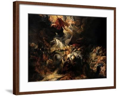 Battle of the Amazons, 1616-1618-Peter Paul Rubens-Framed Giclee Print