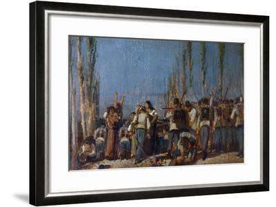 The Mantua Massacres-Giovanni Fattori-Framed Giclee Print