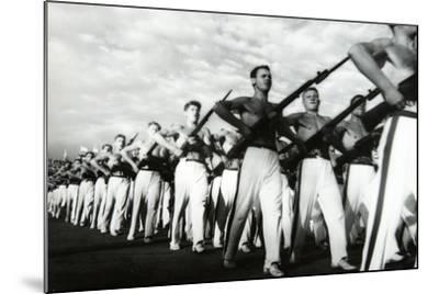 Parade of the Young Communists, Moscow--Mounted Photographic Print
