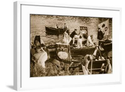 Swan Upping on the Thames--Framed Photographic Print
