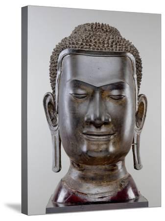Buddha Head, Ayutthaya Culture, U Thong Style--Stretched Canvas Print