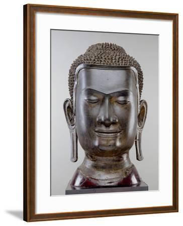 Buddha Head, Ayutthaya Culture, U Thong Style--Framed Giclee Print