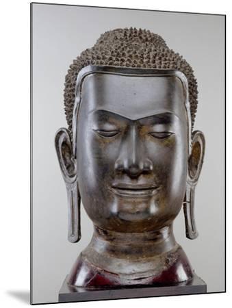 Buddha Head, Ayutthaya Culture, U Thong Style--Mounted Giclee Print