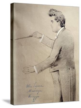 Pietro Mascagni--Stretched Canvas Print