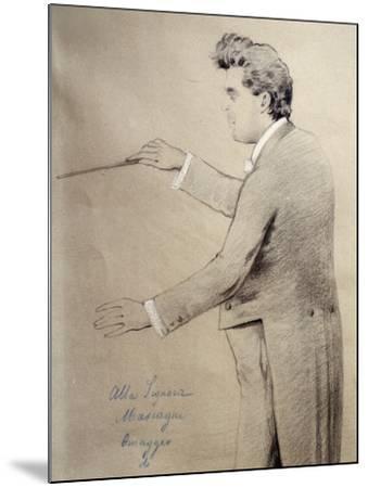 Pietro Mascagni--Mounted Giclee Print