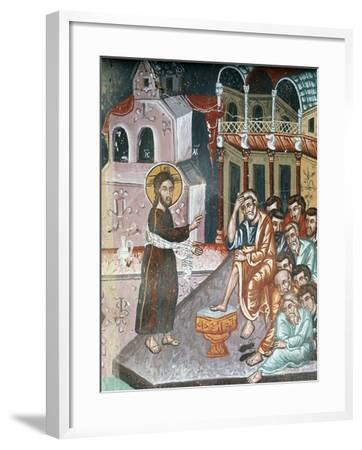 Jesus Washing the Disciples' Feet-Symeon Axenti-Framed Giclee Print
