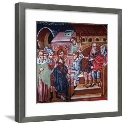 Jesus before the High Priest, 1494-Philippos Goul-Framed Giclee Print