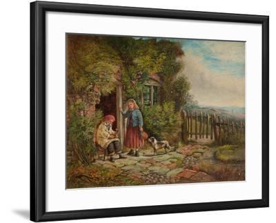 Cottagers-John H. Dell-Framed Giclee Print