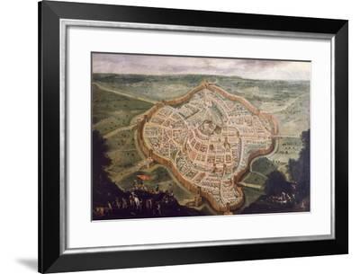 Perspective Map of Udine-Luca Carlevaris-Framed Giclee Print