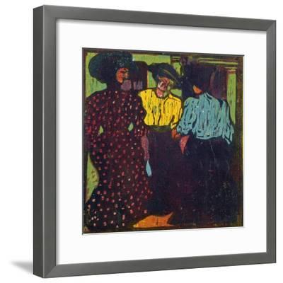 Three Women Talking, 1907-Ernst Ludwig Kirchner-Framed Giclee Print