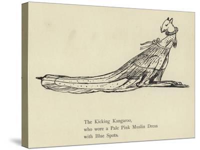 The Kicking Kangaroo-Edward Lear-Stretched Canvas Print