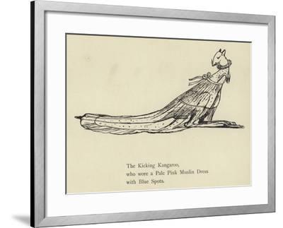 The Kicking Kangaroo-Edward Lear-Framed Giclee Print