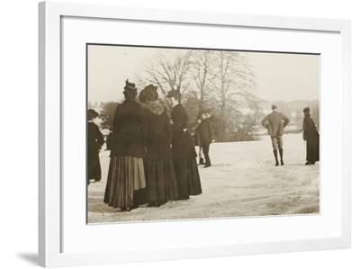 Frozen River Exe, 1917--Framed Photographic Print