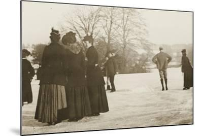 Frozen River Exe, 1917--Mounted Photographic Print