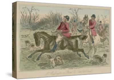 "Mr Muffington on ""Placid Joe"" Late Pull Devil-John Leech-Stretched Canvas Print"