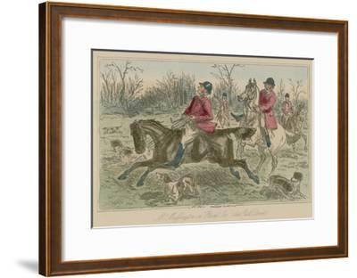 "Mr Muffington on ""Placid Joe"" Late Pull Devil-John Leech-Framed Giclee Print"