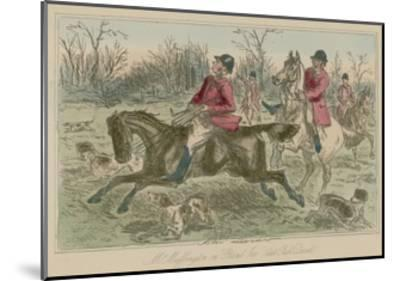 "Mr Muffington on ""Placid Joe"" Late Pull Devil-John Leech-Mounted Giclee Print"