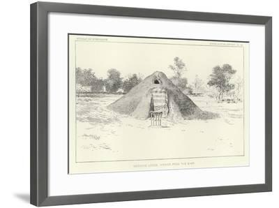Medicine Lodge Viewed from the East--Framed Giclee Print