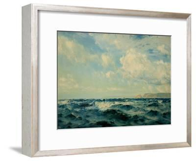 A Breezy Day Off the Isle of Wight, 1890-Henry Moore-Framed Giclee Print