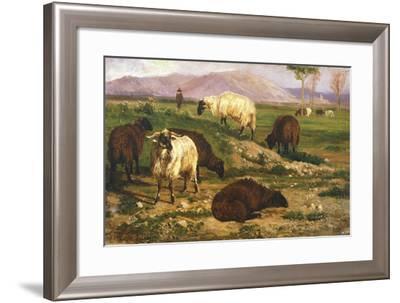 Grazing Animals-Nicola Palizzi-Framed Giclee Print