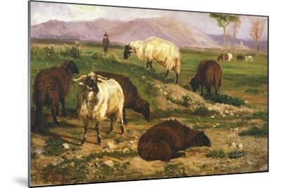 Grazing Animals-Nicola Palizzi-Mounted Giclee Print