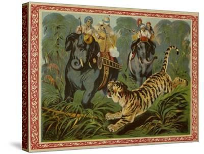 Tiger Hunt--Stretched Canvas Print