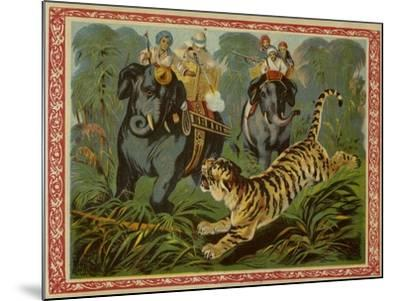 Tiger Hunt--Mounted Giclee Print