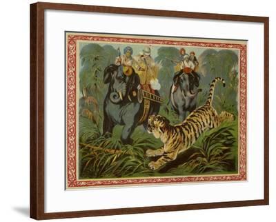 Tiger Hunt--Framed Giclee Print