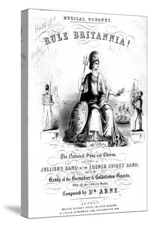 Frontispiece to Sheet Music for 'Rule Britannia!'--Stretched Canvas Print