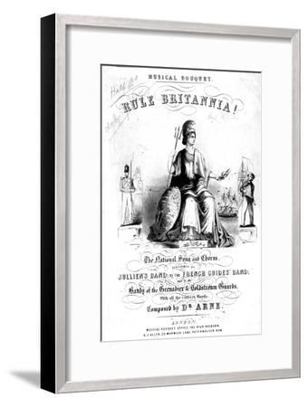 Frontispiece to Sheet Music for 'Rule Britannia!'--Framed Giclee Print