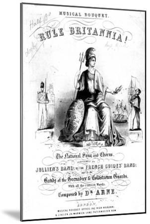 Frontispiece to Sheet Music for 'Rule Britannia!'--Mounted Giclee Print