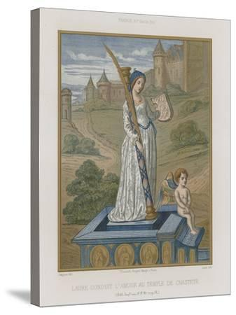 Laura at the Temple of Chastity--Stretched Canvas Print