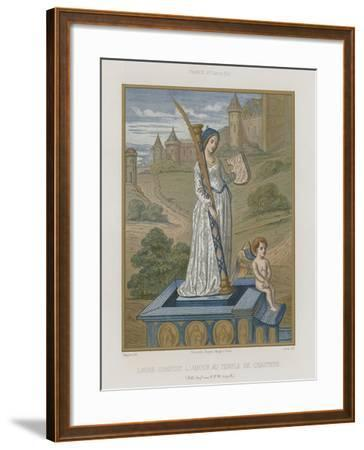 Laura at the Temple of Chastity--Framed Giclee Print