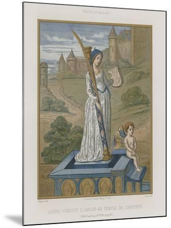 Laura at the Temple of Chastity--Mounted Giclee Print