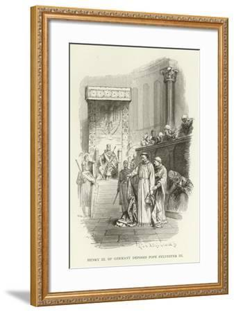 Henry III of Germany Deposes Pope Sylvester III--Framed Giclee Print