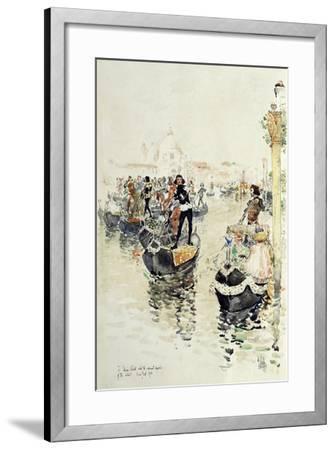 A Venetian Regatta, 1891-Childe Hassam-Framed Giclee Print