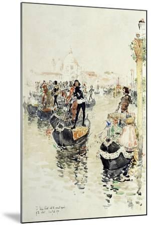 A Venetian Regatta, 1891-Childe Hassam-Mounted Giclee Print