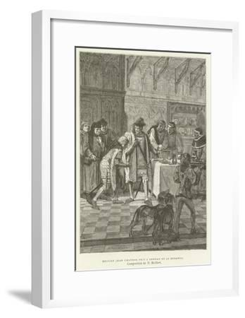 Sir John Chandos Took the Ring and Looked at It--Framed Giclee Print