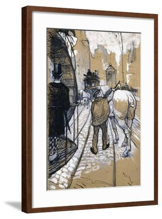 The Coach Driver of the Omnibus Company, 1888-Henri de Toulouse-Lautrec-Framed Giclee Print