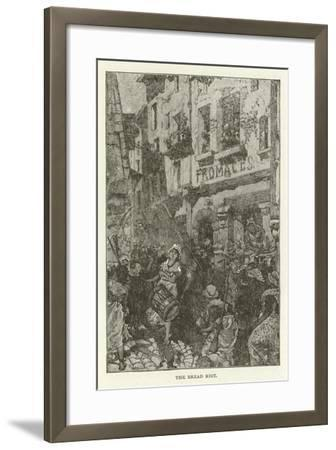 The Bread Riot--Framed Giclee Print
